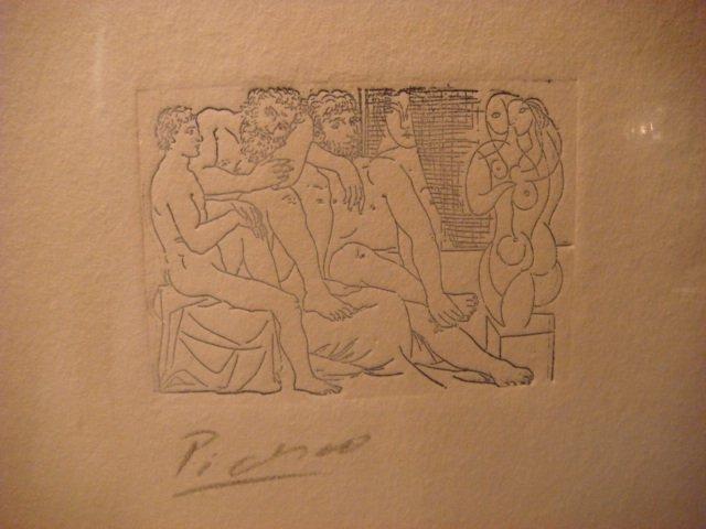 Pablo Picasso Etching Signed in Pencil ,original ,escultores y modelos