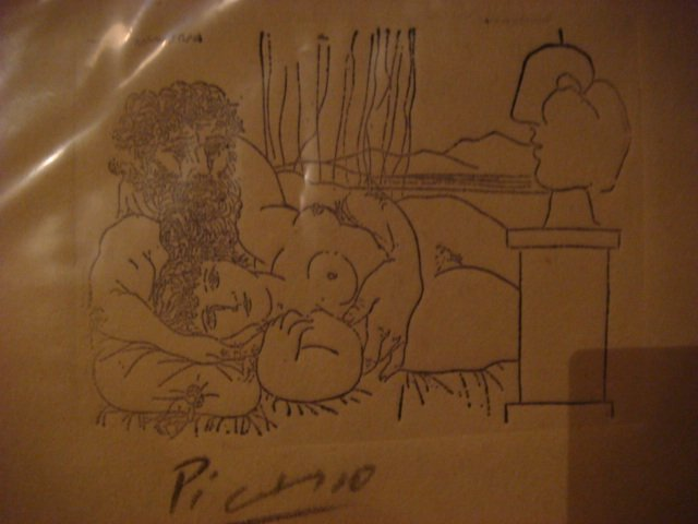 Pablo Picasso Etching Signed In Pencil Original Escultor