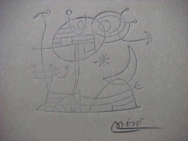 Joan Miro , Certified wax stamp # 237 year 1943 ESTRELLA Y LA CUIDAD