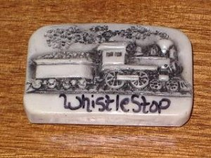 Whistle Stop Train Engine and Coal Car Refrigerator Magnet