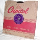 RED INGLE, CIGAREETES, WHUSKEY, AND WILD,WILD WOMEN, 78 RPM CAPITOL 15045
