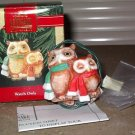 Hallmark Ornament Magic Light Watch Owls 1992
