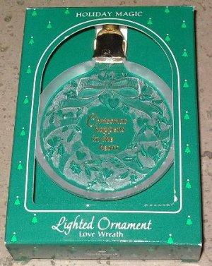 Hallmark Ornament Holiday Magic Love Wreath 1985 SALE