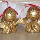 Golden Angel Choir Ornament figurines Set of 4 singing