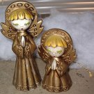 Angel figurines praying and singing (two angels)