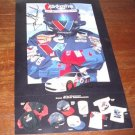 Mark Martin #6 Racing Poster 1998 signed by Jack Roush 8 1/2 X11