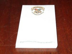 Hogwarts School of Witchcraft and Wizardry Note paper Harry Potter