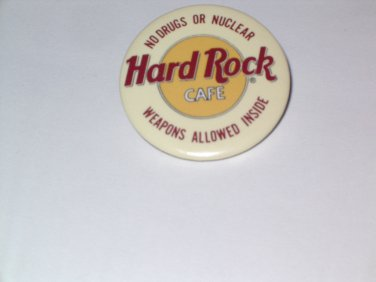 """Hard Rock Cafe Pin """"NO DRUGS OR NUCLEAR WEAPONS INSIDE"""""""