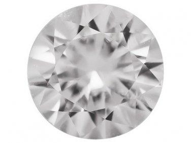 White Sapphire Sri Lankan .45ct 5mm Round Diamond Cut Jewelry Television JTV