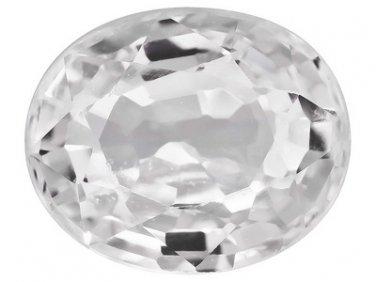 White Sapphire Sri Lankan .80ct 6x5mm Oval Jewelry Television JTV