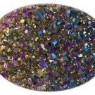 Drusy Quartz 16x12mm Oval, Bi-color Jewelry Television JTV
