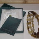 COLDWATER CREEK Three Strand Flat Oval Necklace from Philiippines Tans/Brown