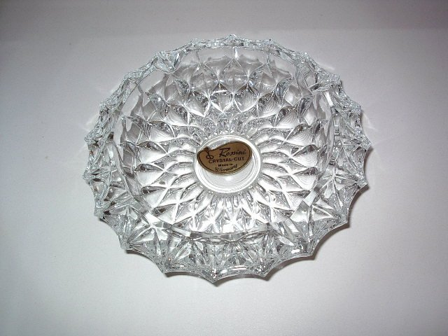 Rossini Crystal Cut Pressed Glass Ashtray 7 Quot West Germany