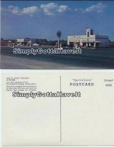 TEXACO South Dixie Highway ELIZABETHTOWN KY postcard 1960s