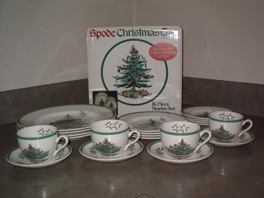 HUGE Dinner Set for eight Spode CHRISTMAS TREE Made in England in boxes