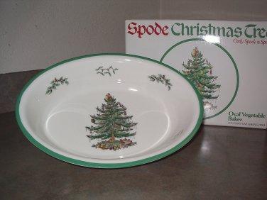 Spode Christmas Tree Oval Vegetable Baker Dish England in original box