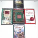 LOT of 5 Christmas Cassettes Tapes Mannheim Steamroller,Hallmark,Wonderful Life