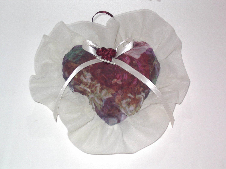 Victoria Secret Roses Netting pattern on Heart Shape Sachet Vintage