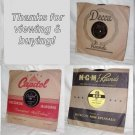 Lot of 78 RPM record albums with original sleeves (our lot #6)