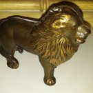 Vintage 2-Piece Cast Iron Metal Animal Lion Coin/Penny Bank Carnival Piggy Small
