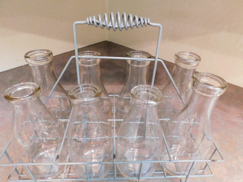 Antique Vintage Dairy Milk Farm Bottle Carrier Holder Wire