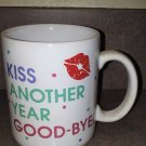 KISS ANOTHER YEAR GOOD-BYE! Mug Vintage Hallmark