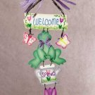 """34188 """"welcome Spring"""" Wooden Wall Plaque"""