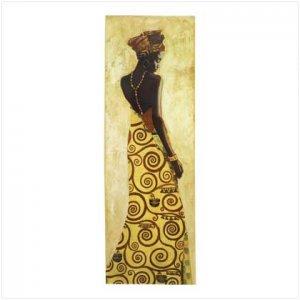 AFRICAN PRINCESS WALL DECOR  #39672