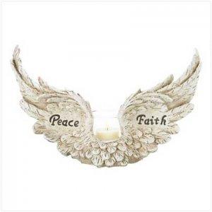 ANGEL WINGS CANDLEHOLDER  #38975