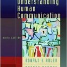 Understanding Human Communication 9th by Ronald B. Adler 0195178335