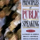 Principles of Public Speaking 15th Edition by Bruce E. Gronbeck 0205380670