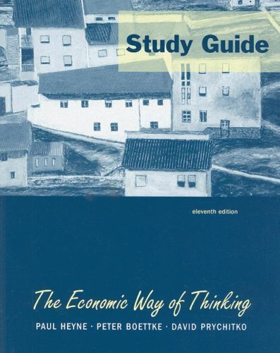 book cover   	 The Study Guide for Economic Way of Thinking 11th by David L Prychitko 0131543725