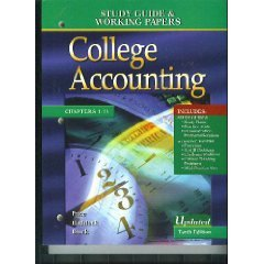 College Accounting : Study Guide & Working Papers Chap 1-13 10th by Haddock 0073012092