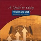 A Guide to Using Thomson ONE - Business School Edition by Carlson 0324319304