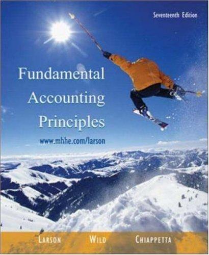 Fundamental Accounting Principles 17th by John J Wild 0072946601