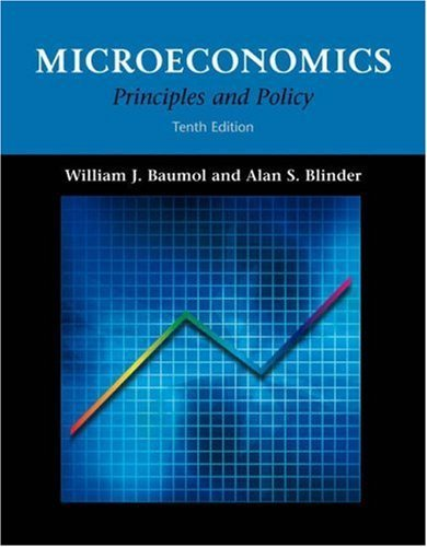 Microeconomics : Principles and Policy 10th by Alan S. Blinder 0324221150