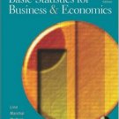 Basic Statistics for Business and Economics 4th by Douglas A. Lind 0072819820