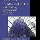 Business Communication with Writing Improvement Exercises 6th by McCormick 0130400211