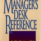 The Manager's Desk Reference 2nd by Charles B. Fink 0814403425
