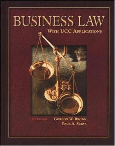Business Law 10th by Gordon W. Brown 0078210372
