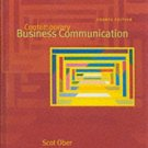 Contemporary Business Communication 4th by Scott Ober 0618018654