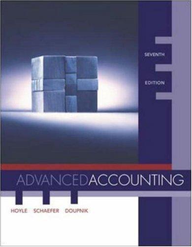 Advanced Accounting 7th by Joe Ben Hoyle 0072934808