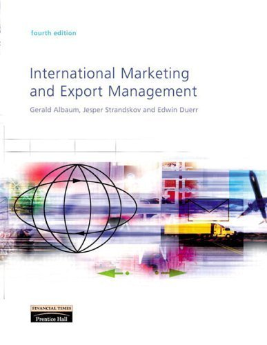 International Marketing and Export Management (4th) by Edwin Duerr 0273655213