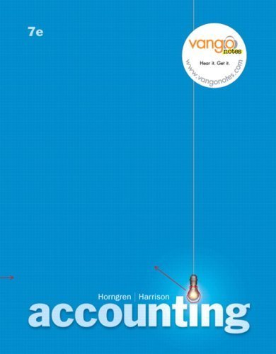 Accounting 7th by Charles T. Horngren 0132439603
