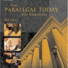 West Paralegal Today: The Essentials 3rd by Roger Miller 1401824293