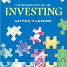 Fundamentals of Investing 9th by Lawrence J. J. Gitman 0321236858