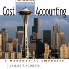 Cost Accounting 12th by Charles T. Horngren 0131495380