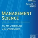 Management Science 2nd by Stephen G. Powell 0470038403