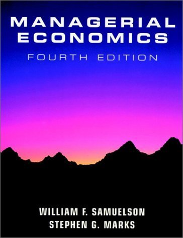 Managerial Economics 4th by Samuelson 0470000449