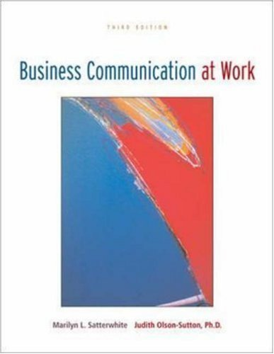 Business Communications At Work 3rd by Satterwite 0073138312